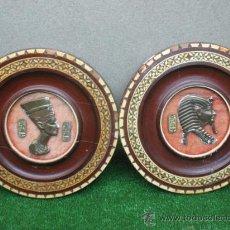 Varios objetos de Arte: PLATOS EGIPCIOS CON MARQUETERIA. Lote 42583479