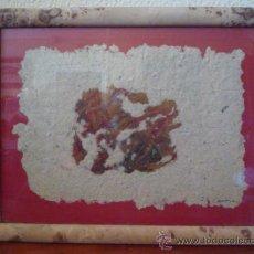 Varios objetos de Arte: BONITO CUADRO- RARO - FIRMADO - . 26 CM X 32,5 CM, LAS MEDIDAS SON CON EL MARCO INCLUIDO.. Lote 24283400