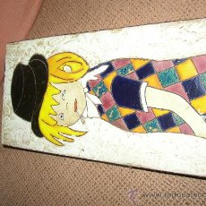 Varios objetos de Arte: BONITO CUADRO ESMALTADO AL FUEGO. 29X14 CMS. Lote 24355512