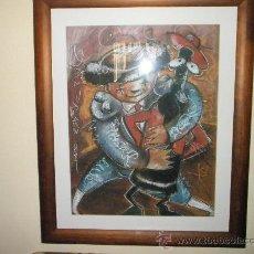 Varios objetos de Arte: CUADRO CON MARCO+CRISTAL-CERADA-JORGE ESPIRAL-2000-(PINTOR GALLEGO)-87X72/65X50 CMS-SESIÓN VERMOUTH.. Lote 27365676