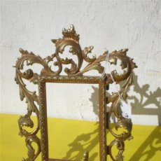 Varios objetos de Arte: PORTARETRATO DE BRONCE. Lote 24938090