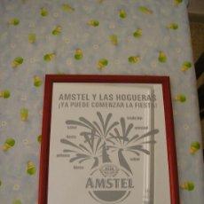 Varios objetos de Arte: CUADRO DE CRISTAL DE CERVEZA AMSTEL HOGUERAS 2004. Lote 26551609