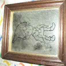 Varios objetos de Arte: CUADRITO SOBRE ESPEJO, 18X16 CMS. Lote 25206081