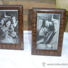 Varios objetos de Arte: 2 PORTARETRATO ANTIGUOS MADERA. Lote 25361367