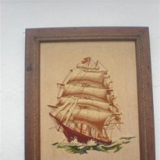 Varios objetos de Arte: CUADRO TAPIZ MARINA. Lote 25691402