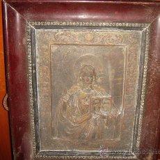 Varios objetos de Arte: ANTIGUOS CUADROS METAL BRONCE O COBRE. Lote 26154163