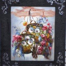 Varios objetos de Arte: BONITO CUADRO FLORAL. Lote 26500509