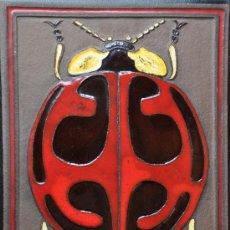 Varios objetos de Arte: PLACA CERAMICA PINTADA FIRMADA DE KNABSTRUP DENMARK POR GUNTER PRASCHAK. Lote 26876988