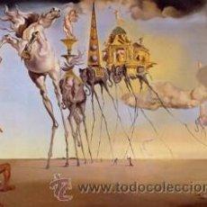 Varios objetos de Arte: CUADRO EN MADERA (RÉPLICA) DE 40X28 CM : SALVADOR DALÍ, TENTACIÓN DE SAN ANTONIO.. Lote 40362271