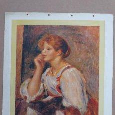 Varios objetos de Arte: REPRODUCCION ANTIGUA SOBRE TELA DE LIENZO. RENOIR. Lote 27518613