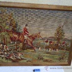 Varios objetos de Arte: MUY ANTIGUO Y PRECIOSO TAPIZ EN PUNTO DE CRUZ DE PRINCIPIOS DE 1900 EN Y CON MARCO. Lote 27873234