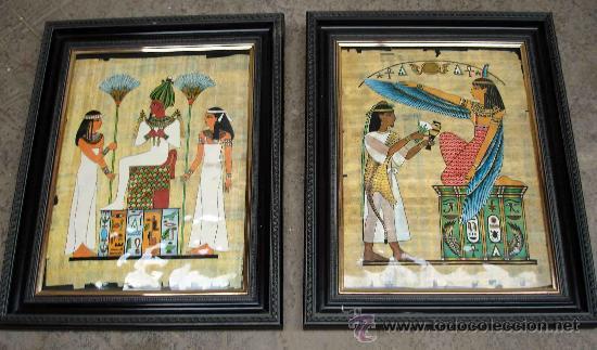 DOS CUADROS CON MOTIVOS EGIPCIOS (Arte - Varios Objetos de Arte)