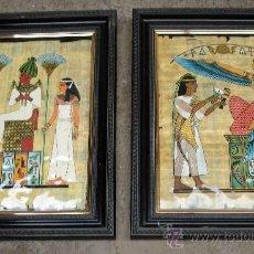 Varios objetos de Arte: DOS CUADROS CON MOTIVOS EGIPCIOS. Lote 27916892
