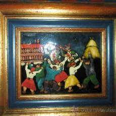 Varios objetos de Arte: CUADRO CON ESMALTE DE -PORTAS LEIRADO-17X23 CMS-CON MARCO 39X45 CMS.VER DESCRIPCIÓN.. Lote 28238931