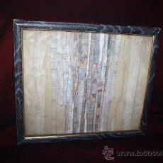 Varios objetos de Arte: B2-023. COLAGE EN TÉCNICA MIXTA DE ALFONSO QUIJADA TEMA ABSTRACTO, DE 1970. Lote 28784740