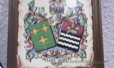 Varios objetos de Arte: Cuadro en azulejo con el escudo del apellido AYLLON MARTIN - Foto 3 - 28824679
