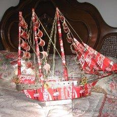 Varios objetos de Arte: BARCO REALIZADO CON LATAS DE COCA-COLA. Lote 29279829