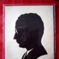 Arte: TARJETA CON RETRATO SILUETEADO EN PAPEL NEGRO. FIRMADO. HELSINKI. 10 X 15 CM. Lote 29434078