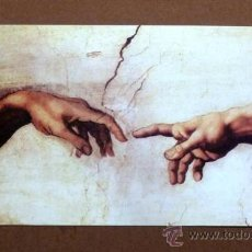 Varios objetos de Arte: LÁMINA LA CREACIÓN DE ADÁN - MICHELANGELO (35,5 X 69 CM). Lote 176671289