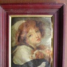 Varios objetos de Arte: CUADRO LAMINA SOBRE TELA DE SEDA. Lote 29774529