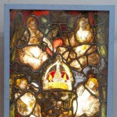 Varios objetos de Arte: VIDRIERA RENACENTISTA CON EL AGUILA BICEFALA DEL SACRO IMPERIO ROMANO GERMANICO ESPAÑA S XVI. Lote 30001091