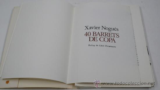 Varios objetos de Arte: Xavier Nogués, 40 barrets de copa, inclou un aiguafort. tiraje 3/14. Año 1983. - Foto 2 - 30077500