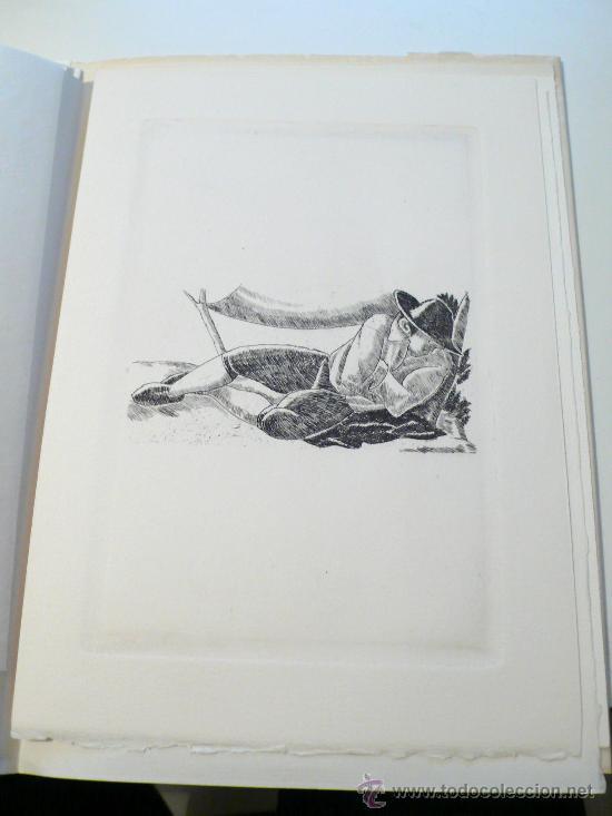 Varios objetos de Arte: Xavier Nogués, 40 barrets de copa, inclou un aiguafort. tiraje 3/14. Año 1983. - Foto 8 - 30077500