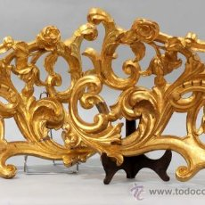 Varios objetos de Arte: PAREJA DE APLIQUES BARROCOS RETABLO EN MADERA TALLADA Y DORADA S XVIII. Lote 30304970