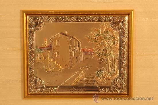 Varios objetos de Arte: CUADRO CON MINIATURA EN PLATA DE LEY ALEGORIA OTOÑO - Foto 2 - 30320320