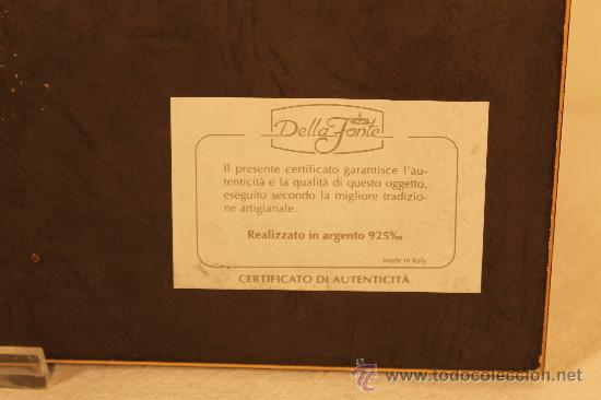 Varios objetos de Arte: CUADRO CON MINIATURA EN PLATA DE LEY ALEGORIA OTOÑO - Foto 3 - 30320320