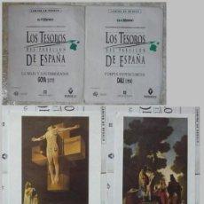 Varios objetos de Arte: LOTE DE 3 LAMINAS LOS TESOROS DEL PABELLON DE ESPAÑA-EXPO 92 - EL MUNDO 1992. Lote 30445286