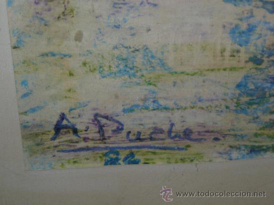 Varios objetos de Arte: PASTEL-FDO A PUCHE-PUERTO DE BARCELONA - Foto 3 - 30540210