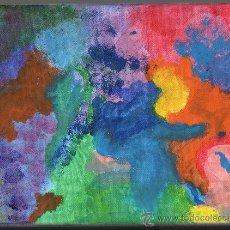 Varios objetos de Arte: PINTURA ACRÍLICA ABSTRACTA SOBRE LIENZO - 24X18 CM.. Lote 30655767