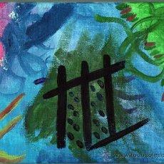 Varios objetos de Arte: PINTURA ACRÍLICA ABSTRACTA SOBRE LIENZO - 24X18 CM.. Lote 30943063