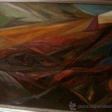 Varios objetos de Arte: GESETMANI AÑO 1954 PINTURA ABSTRACTA DEL PINTOR DON FRANCISCO BENESSAT MEDIDAS 1,10 POR 90 C. Lote 31022055