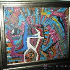 Varios objetos de Arte: CUADRO PINTURA ACRÍLICO Y TINTAS-ALFREDO ROLDÁN-66X57-54X45 CMS.-2008-PERFECTO.. Lote 31130338