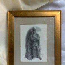 Varios objetos de Arte: AÑO 1915 .- RADAMÈS I AÏDA .- ANTIGUO CUADRO CON POSTAL ENMARCADA.. Lote 31405789