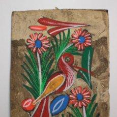 Varios objetos de Arte: BONITA PINTURA NAIF SOBRE PAPEL (CON CRISTAL INCLUIDO). Lote 31418460