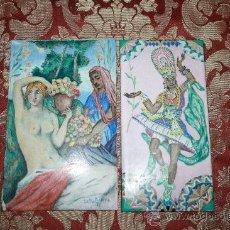 Varios objetos de Arte: O5-013. FANTÁSTICA PAREJA DE ESMALTES. PINTADO A MANO POR CARLES RIDAURE EN 1934. Lote 32125133