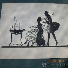 Varios objetos de Arte: HANS BRASCH EXCEPCIONAL FILIGRANA DE PAPEL RECORTADO VER FOTOS RARO. Lote 32201316