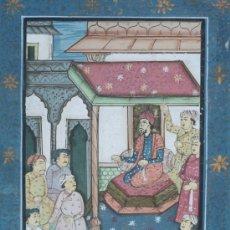 Varios objetos de Arte: PINTURA EN SEDA IRANÍ Ó INDIA.. MEDIDAS 33X23 CM.. Lote 32339439