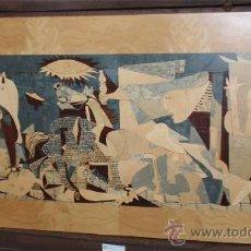 Varios objetos de Arte: CUADRO DEL GUERNICA REALIZADO EN MARQUETERIA (MADERAS PRECIOSAS). MEDIDA 77,5 X 42 CM.. Lote 32532781