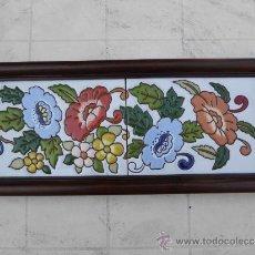 Varios objetos de Arte: TECNICA DE PINTURA SOBRE AZULEJO.CUERDA SECA.. Lote 33575369