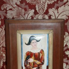 Varios objetos de Arte: O5-003. REPRODUCCIÓN EN ESMALTE DEL FAMOSO ARLEQUIN DE P.PICASSO AÑOS 50/60. Lote 34354171