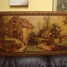 Varios objetos de Arte: CUADRO IMPRESO Y OLEO SOBRE LIENZO 1,42 X 72. Lote 34510349
