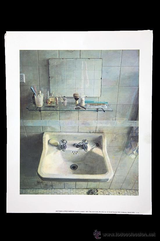 El Lavabo De Antonio Lopez.Antonio Lopez Lavabo Y Espejo 1967 Exposic Vendido En