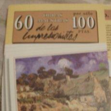 Varios objetos de Arte: 60 OBRAS MASTRAS DE LOS IMPRESIONISTAS. Lote 34694081
