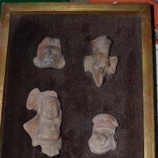 Varios objetos de Arte: CARAS CERAMICA ENMARCADAS. Lote 35068476