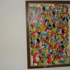 Varios objetos de Arte: PINTURA HAITIANA O DOMINICANA - ROBERT - ENMARCADO 60 X 42 CM.. Lote 35587050