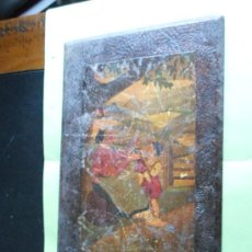 Varios objetos de Arte: PINTURA LACADA EN MADERA DE MOTIVOS VASCOS, DE PRINCIPIOS DEL SIGLO XX. MEDIDAS 34 X 22 CM. Lote 35865715